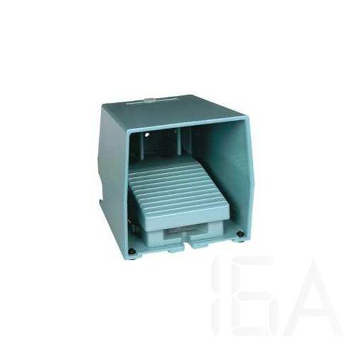 Schneider Lábkapcsoló, fém, kék, 1NC+1NO, 1 fokozat, reteszelés, XPEM410