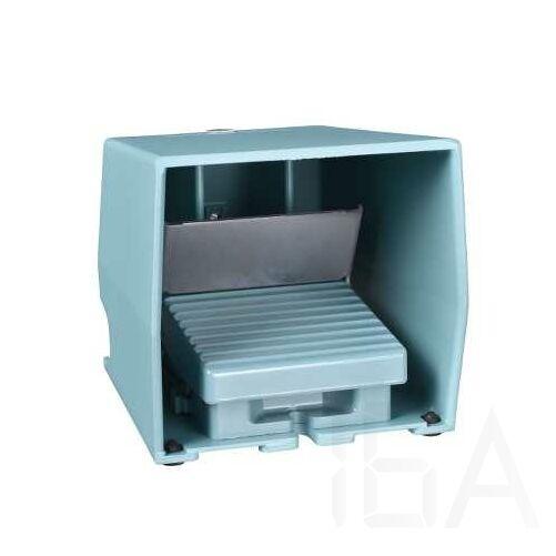 Schneider Pedál, fém, kék, burkolt, reteszelt, 1NC+1NO, 1 fokozat, XPEM510