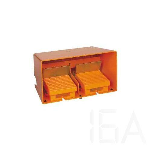 Schneider Kétlábas lábkapcsoló (dupla), fém, narancs, 2x2NC+1NO, 1 fokozat, XPER5110D
