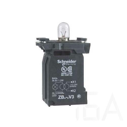 Schneider Jelzőlámpa aljzat+transzformátor 120V, ZB5AV3