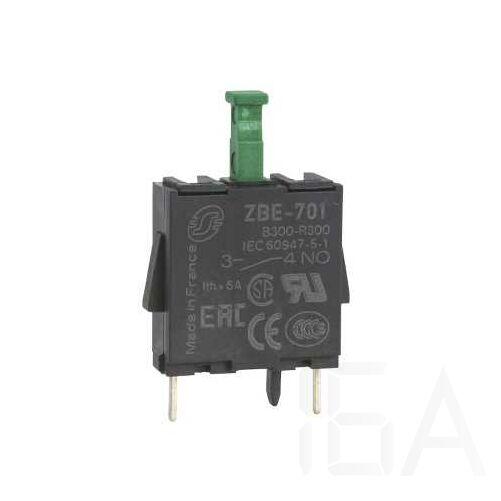Schneider Érintkezőblokk nyomtatott áramkörhöz 1NO, ZBE701