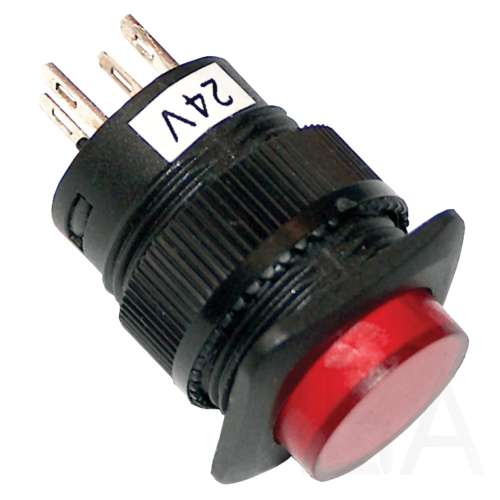 Tracon Mini jelzőlámpás nyomókapcsoló, piros, MNK-110R
