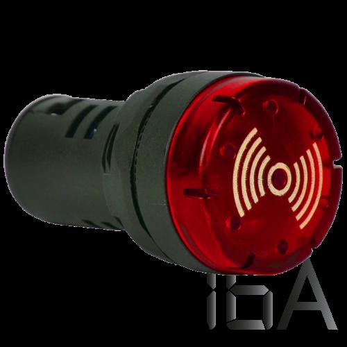Tracon Hang- és fényjelző, piros, NYG3-BFR24