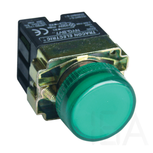 Tracon Jelzőlámpa, fémalapra szerelt, zöld, előtéttel, izzó nélkül, NYGBV73ZT