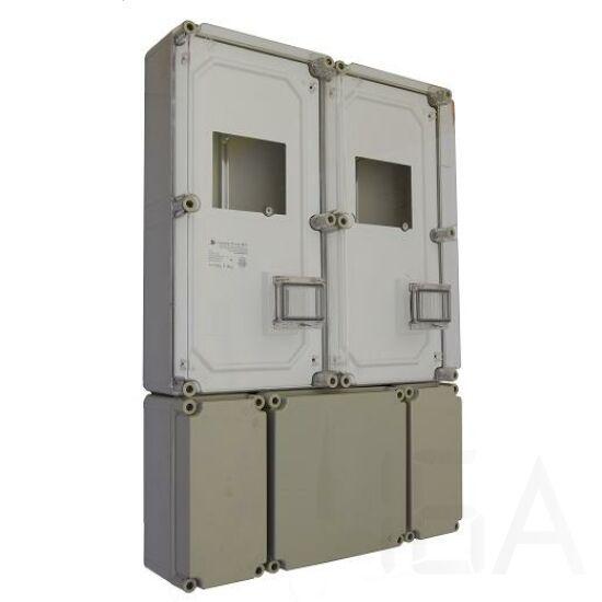 Csatári Plast PVT 6090 Á-V KF Fogyasztásmérő szekrény 3f többmérős