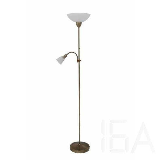 Rábalux, 4019, lámpatest, Rábalux 4019 Pearl classic álló lámpa olvasókarral, H180cm,