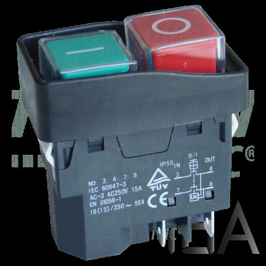 Tracon Relés biztonsági kapcsoló, bepattintható, fekete kerettel [SSTM-03]