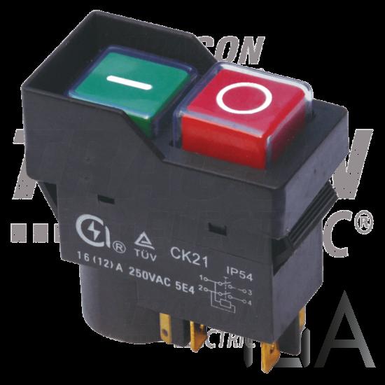Tracon Relés biztonsági kapcsoló, bepattintható, fekete kerettel [SSTM-035]