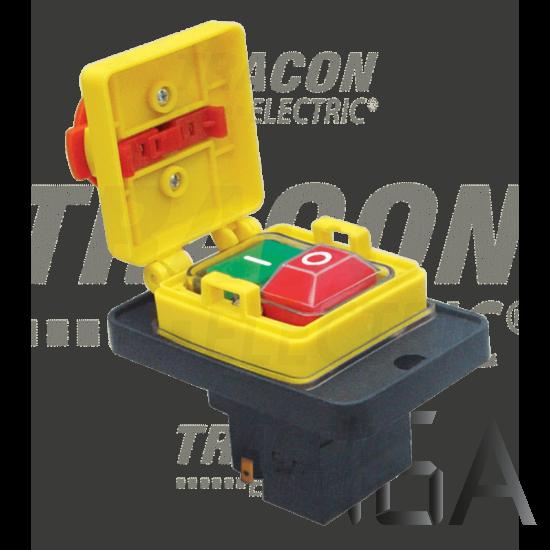 Tracon Relés biztonsági kapcsoló, gombafejű reteszeléssel [SSTM-317]